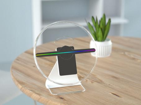 Mini hélice holographique sur batterie - la PLV passe-partout
