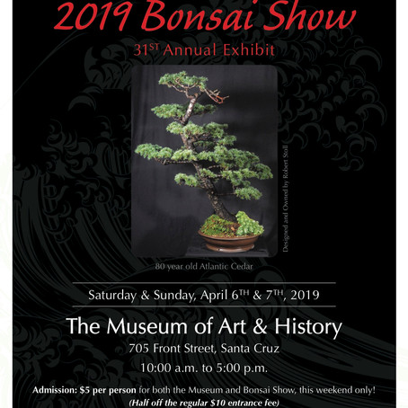 Santa Cruz Bonsai Kai 31th Annual Exhibit