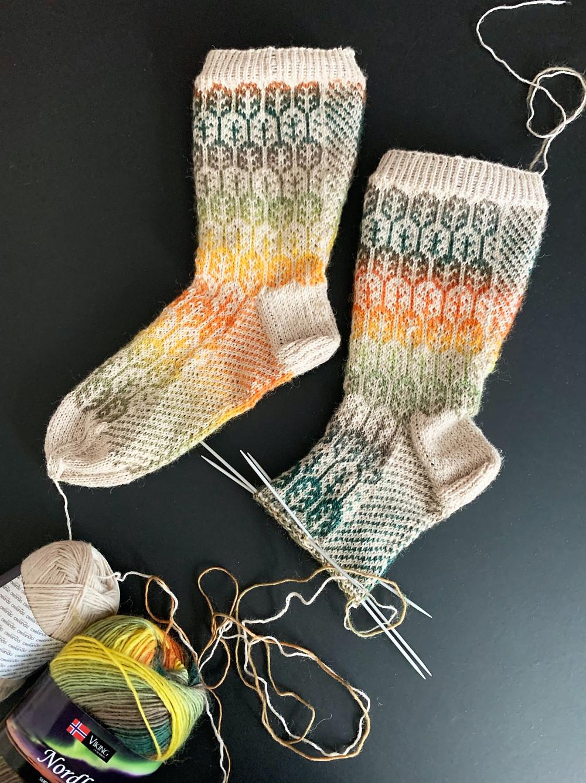 Syysmetsä-sukat kesken