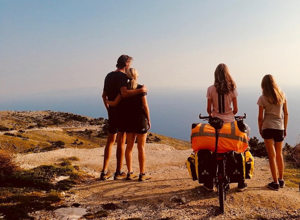 Tour du monde à vélo en famille Albanie Llogara
