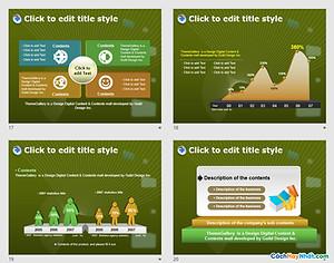 PowerPoint Template 436TGp_biz_dark_ani Free