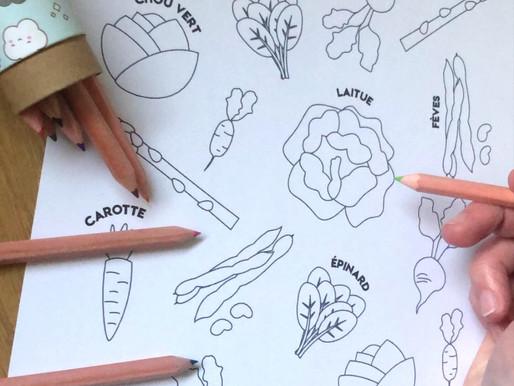 Planches à colorier (gratuites) 🥕🥝