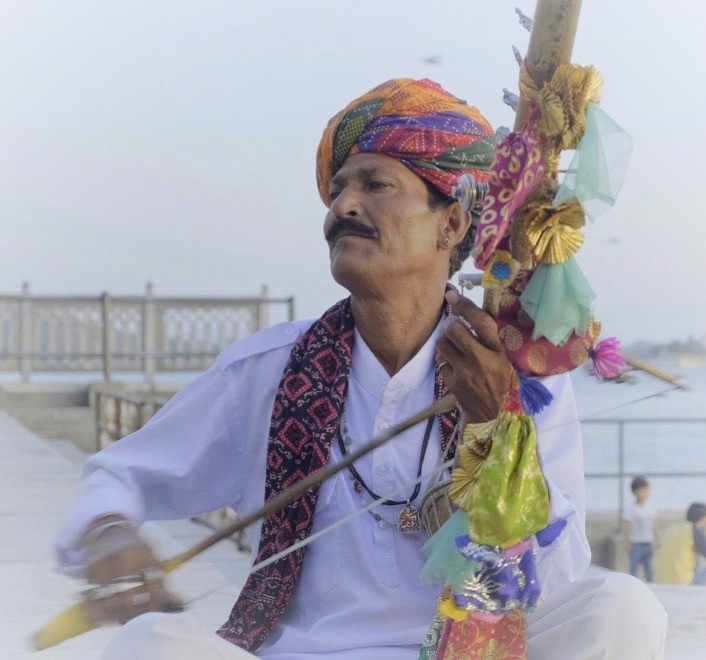 A musician in Udaipur, Rajasthan