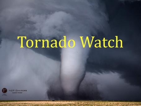 Tornado watch issued for Saskatchewan