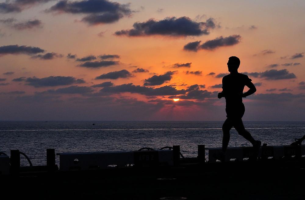 fitness, fit, sunshine, sport, sonnenuntergang
