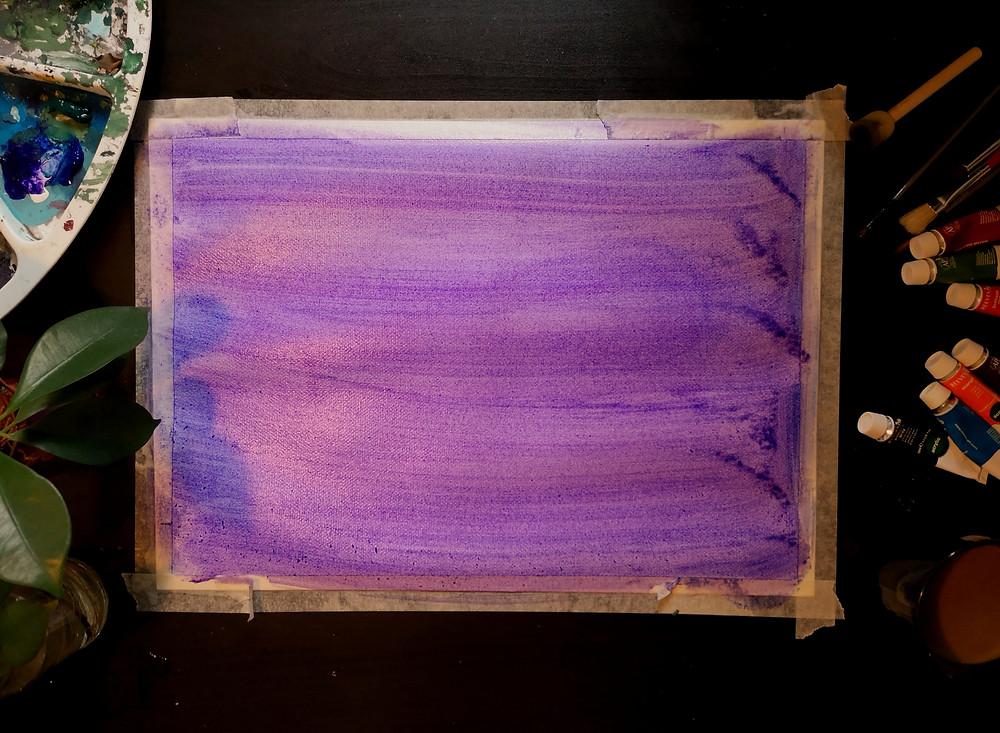 maalaus, värejä, maaleja, kukka, väripaletti, pensseleitä