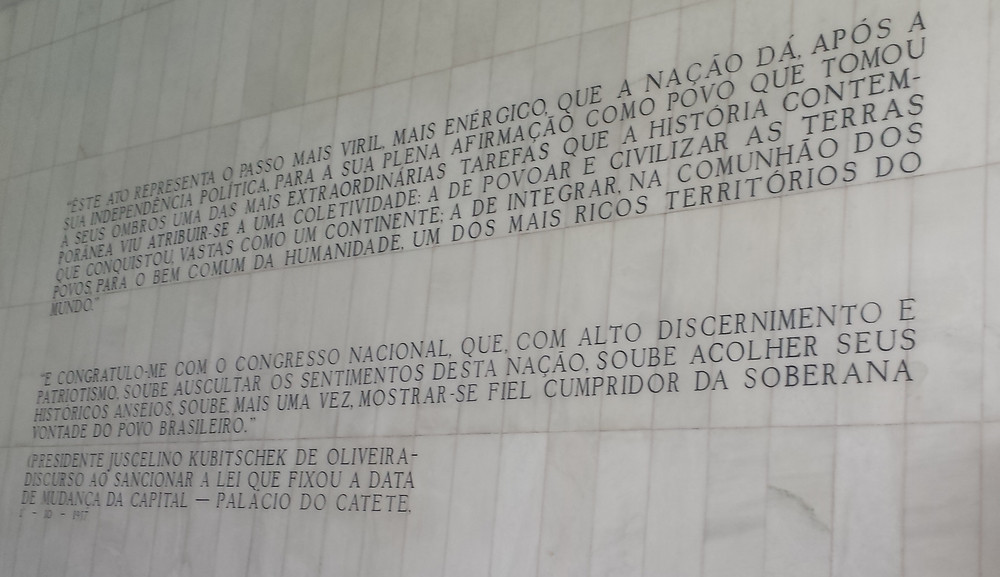 This act represents the most viril, most energetic step, that the nation takes since its political independence, towards its complete affirmation as a people that took on one of the most extraordinary tasks contemporary history has given to a collective: to populate and civilize the lands it conquered, as vast as a continet; to integrate, in the communion of peoples, for humanity's common good, one of the richest territories in the world.