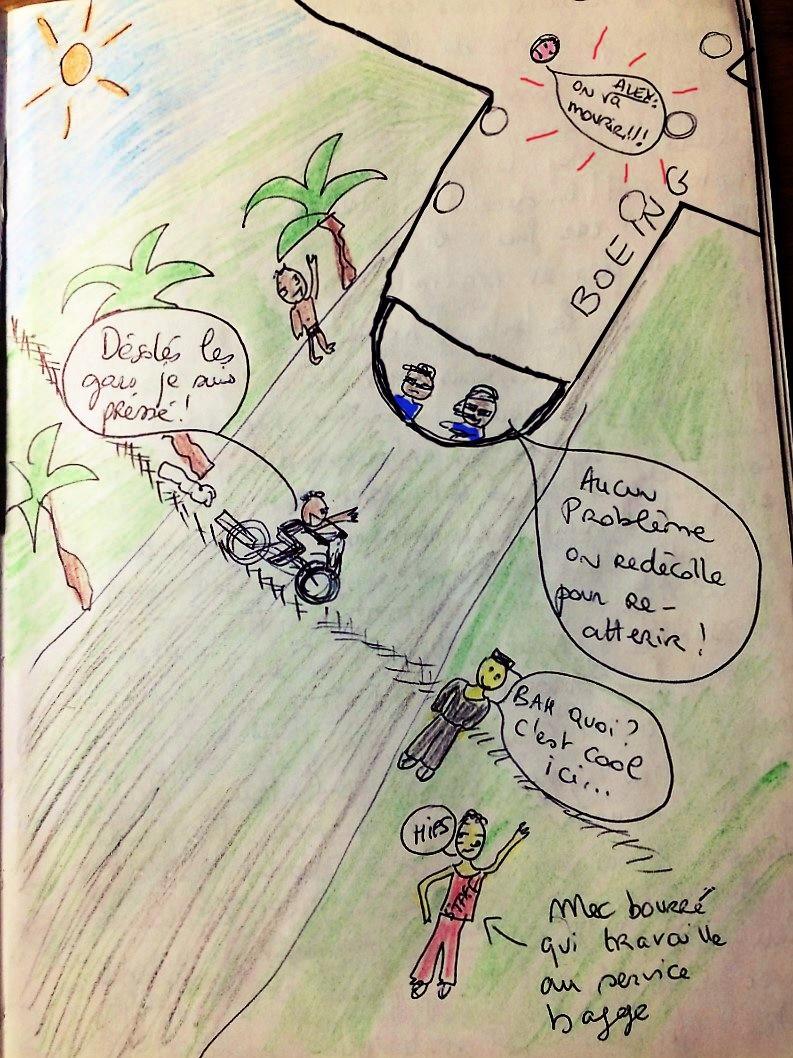 Dessin de voyage papouasie EXPRESS AIR