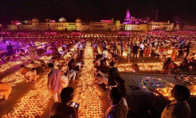 Ayodhya Diwali 2019 - PC Nand Kumar PTI Photo