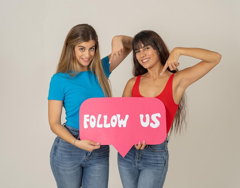 follow us on social media - facebook, instagram, twitter, linkedin and pinterest
