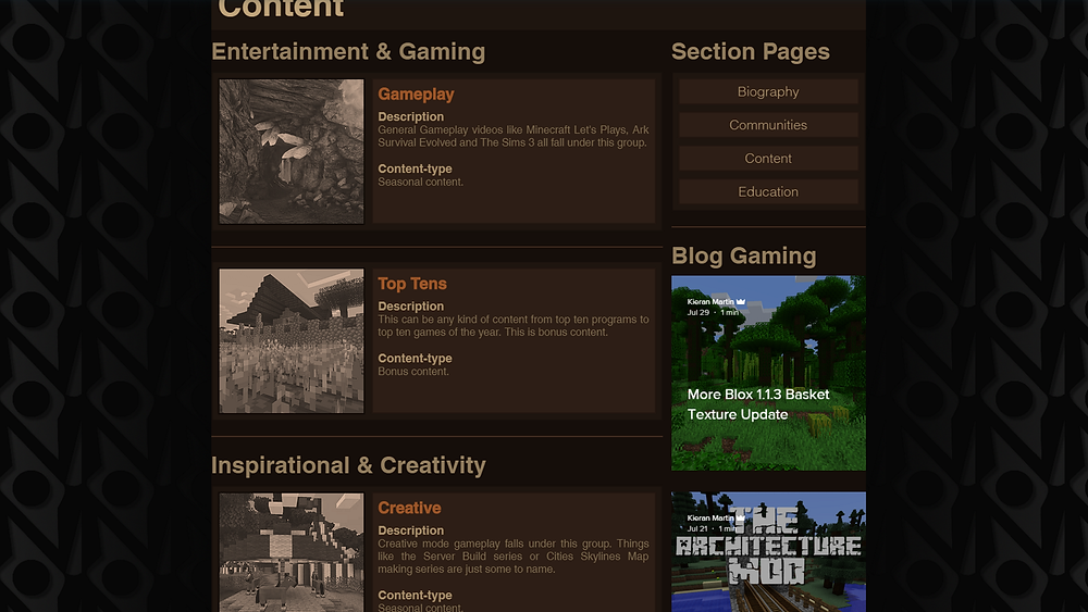 NorthWestTrees Gaming content page