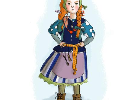 Illustrations for a winter treasure hunt