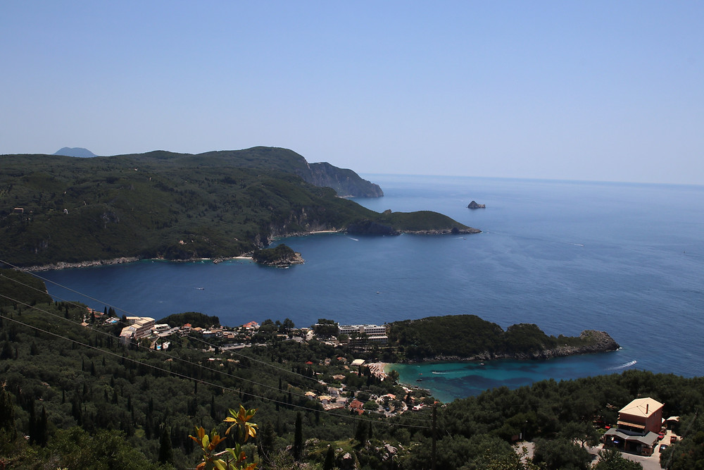 Bays from Paleokastritsa from above (by Hungrig auf Meer)