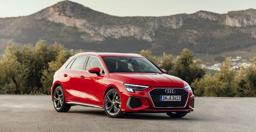 2020 Audi A3 35TDI Sportback front angle, new vehicle