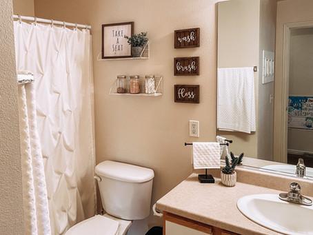 Small Bathroom Makeover - Budget + Apartment Friendly!!