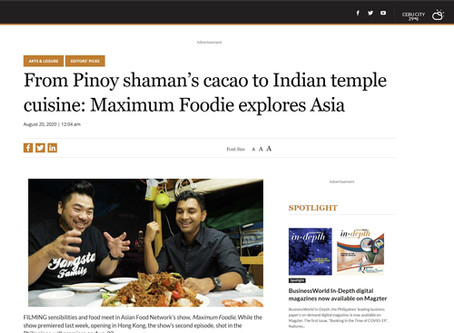 Maximum Foodie featured on Business World