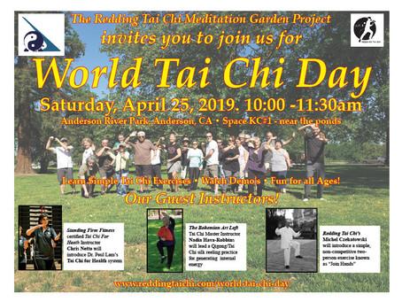 World Tai Chi Day is Saturday, April 25, 2020