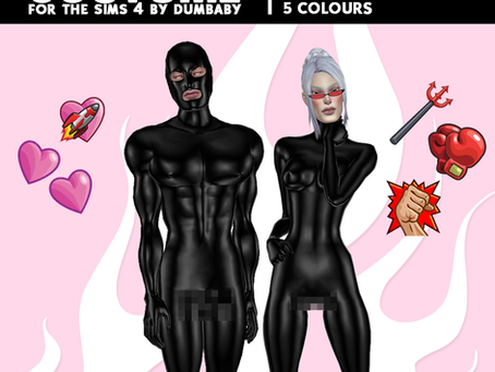FREE! DOWNLOAD Unisex Latex Costume as GLOVES + 4 BDSM Masks
