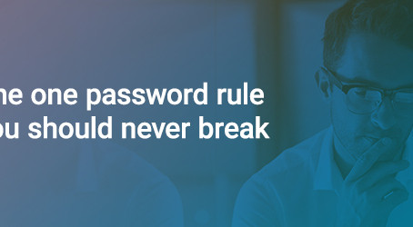 Strong Security starts with Strong Passwords!