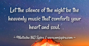 Let the silence of the night....