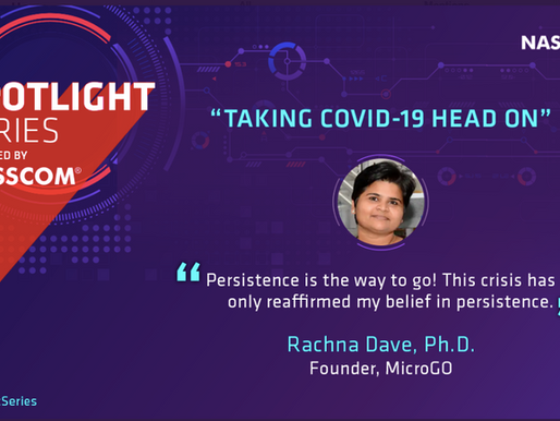 "Spotlight Series powered by NASSCOM                       ""Taking COVID-19 Head On"""