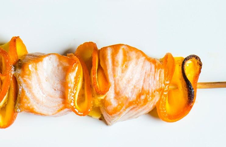 Lašišos ir apelsinų iešmelis, grilio patiekalai, iešmelis orkaitėje, Alfo receptai, lašiša su apelsinais
