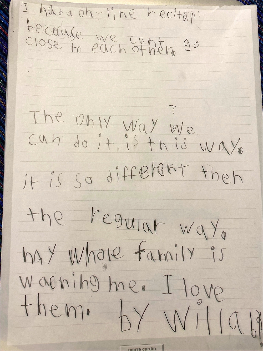 Willa's Essay: an Insider Exclusive