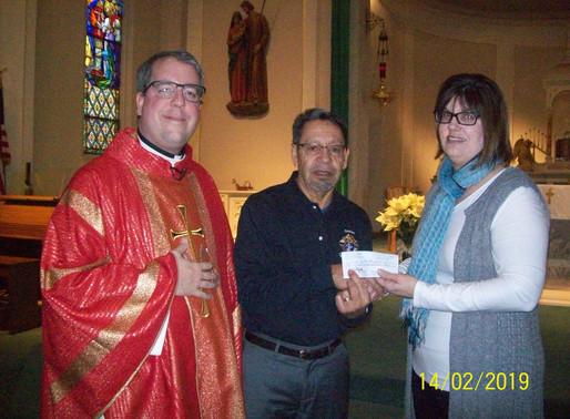 Council 2073 Donates to St. Teresa of Calcutta School
