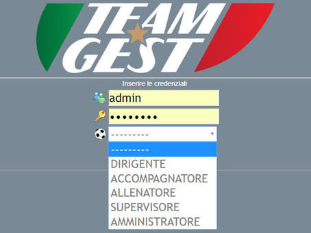 TEAM-GEST: menù e report