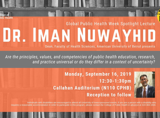 UI College of Public Health to host Dr. Iman Nuwayhid as featured lecturer