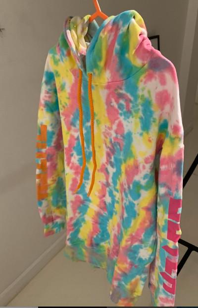 pastel tie-dye kiddy hoodie