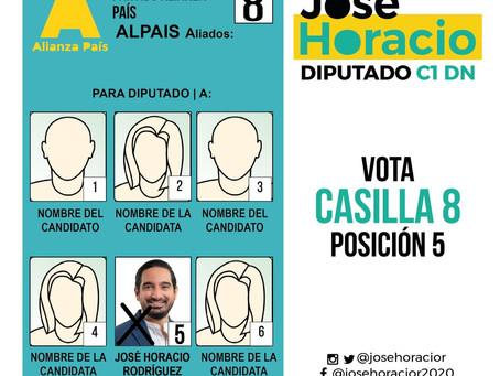 ¿Cómo votar por José Horacio?