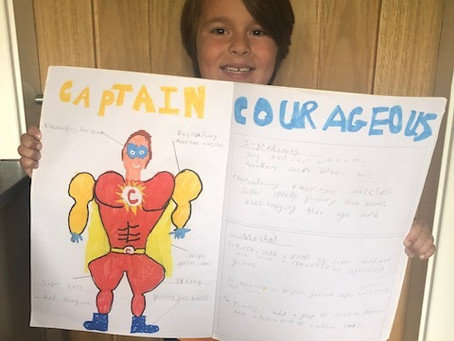 Charlie's courageous superhero and instructions (2VB)