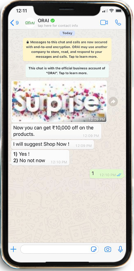 Engagement campaigns on Whatsapp using drip Campaign