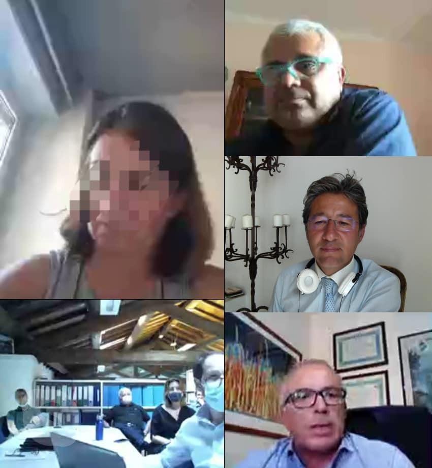 Un'immagine della conference call