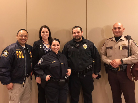 Congratulations to Officer Salazar who was sworn-in as a Metro Transit Police Officer