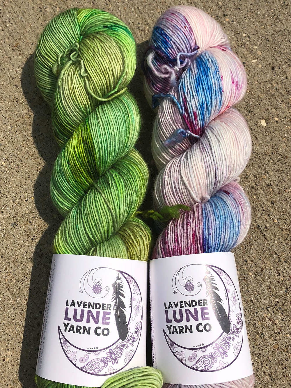 Lavender Lune Yarn Co. Single Ply is now available in the shop!