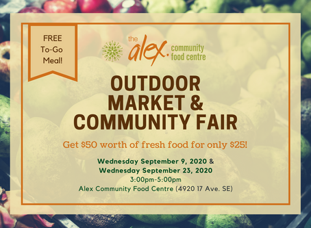Free To-Go Meal Outdoor Market & Community Fair the alex