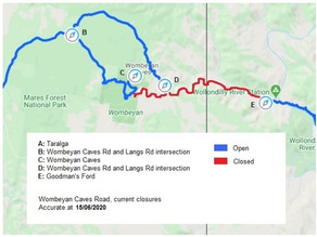 Wombeyan Caves Road update