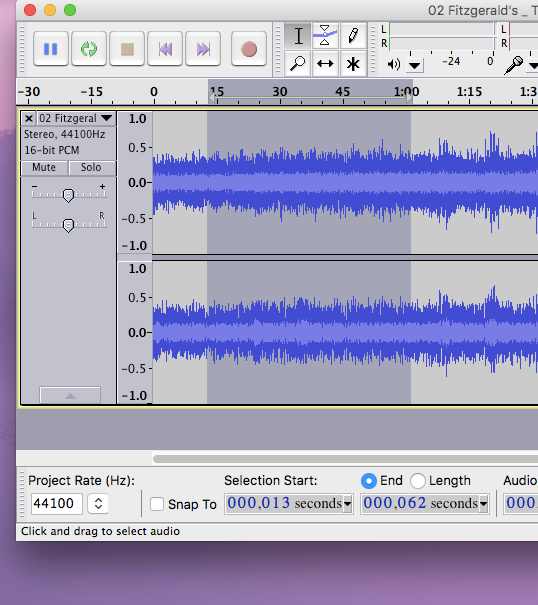 Audacity - slowing down your music.