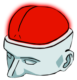 """This is the unofficial """"Smooth Brain"""" logo of the Hell Let Loose Training Camp's Competitive Red Team."""