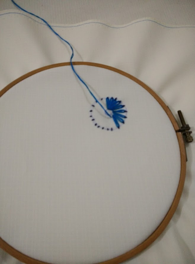 Basic hoop embroidery
