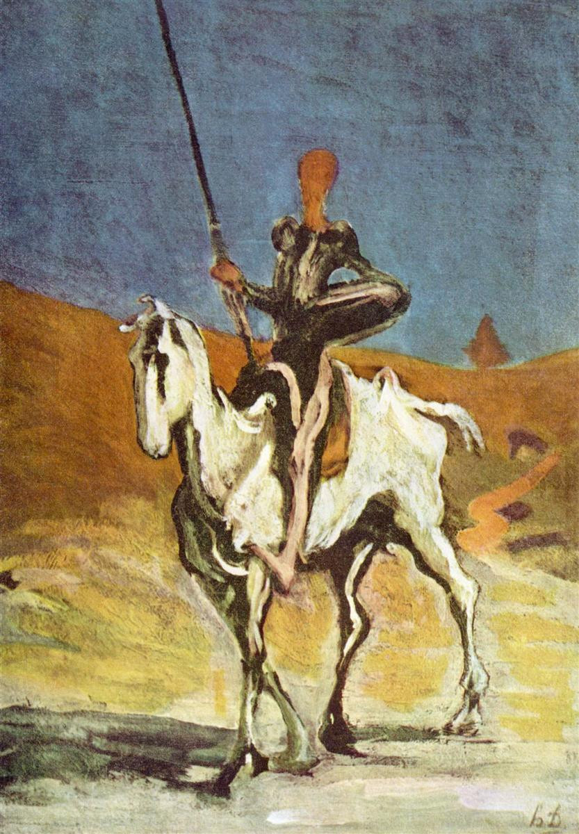 Daumier, Don Quixote and Sancho Pansa, 1865-1870