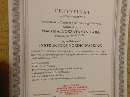 Mamy kolejnych certyfikowanych Instruktorów Nordic Walking