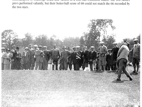 'A great asset to the town': 1922 - Club founders toast the opening of Haywards Heath Golf Links