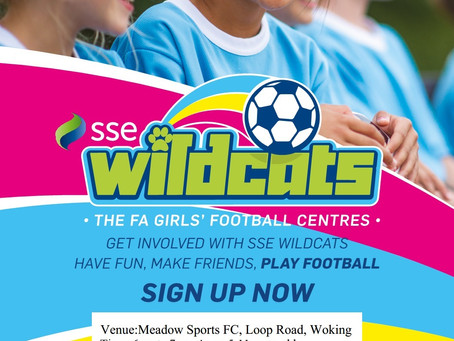 Wildcats girls football sessions continue at Loop Road tonight! ⚽️