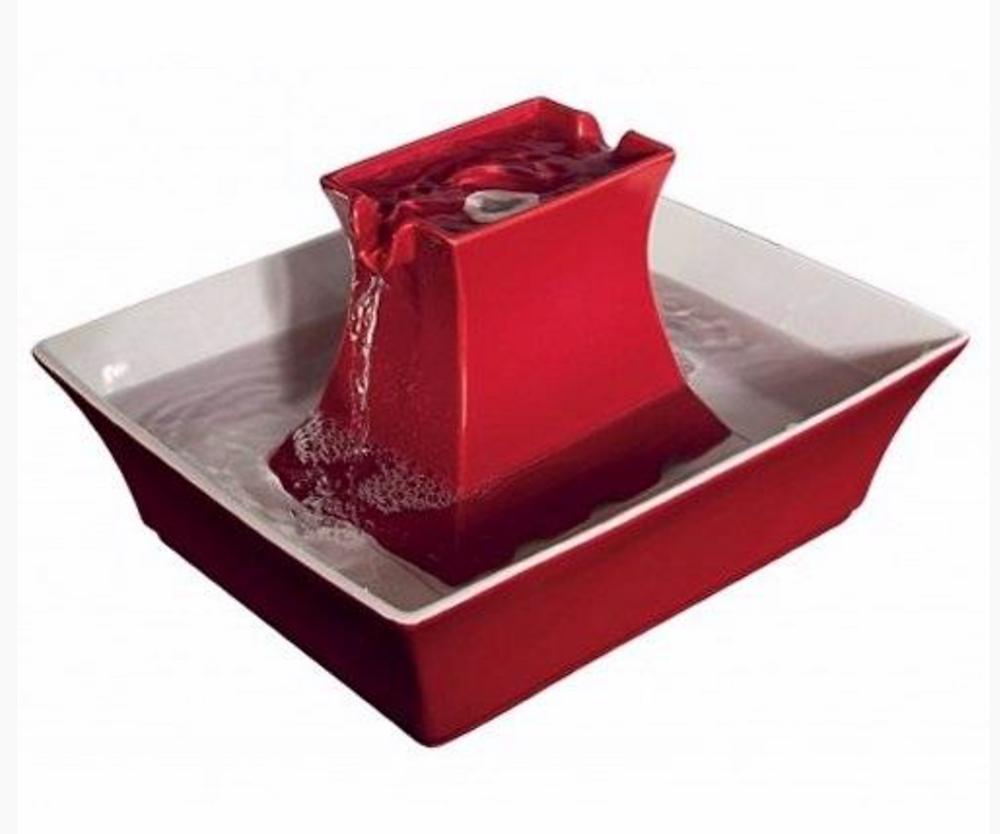 Fontaine à eau Drinkwell Pagoda rouge