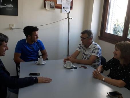 Concejales de la UV Más Campana entregaron distinción a Felipe Modarelli