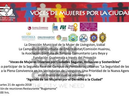 """Presentación """"Agenda de las Mujeres por el Derecho a la Ciudad"""" en Guatemala"""