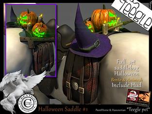 ABSOLUT CREATION Halloween Saddle Bag #1